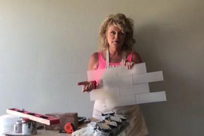 Transform a plain wall into a faux brick wall