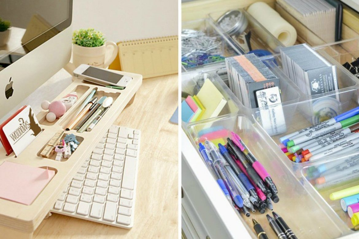 13 Ridiculously Smart Home Office Desk Organization Ideas