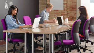 Office work spaces, desks, chairs have to help your employees