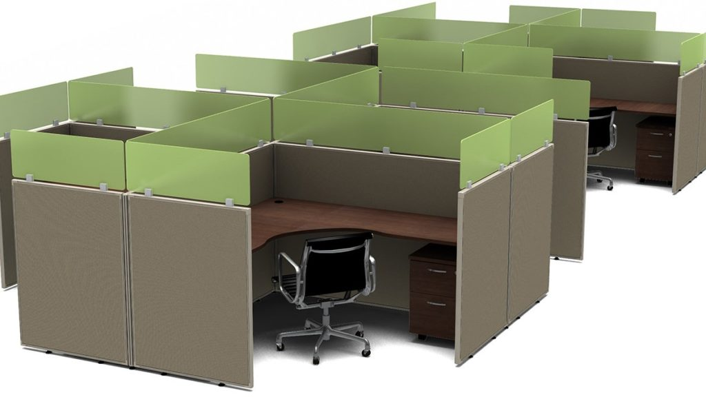 Admin Cubicles FABRIC Stackers